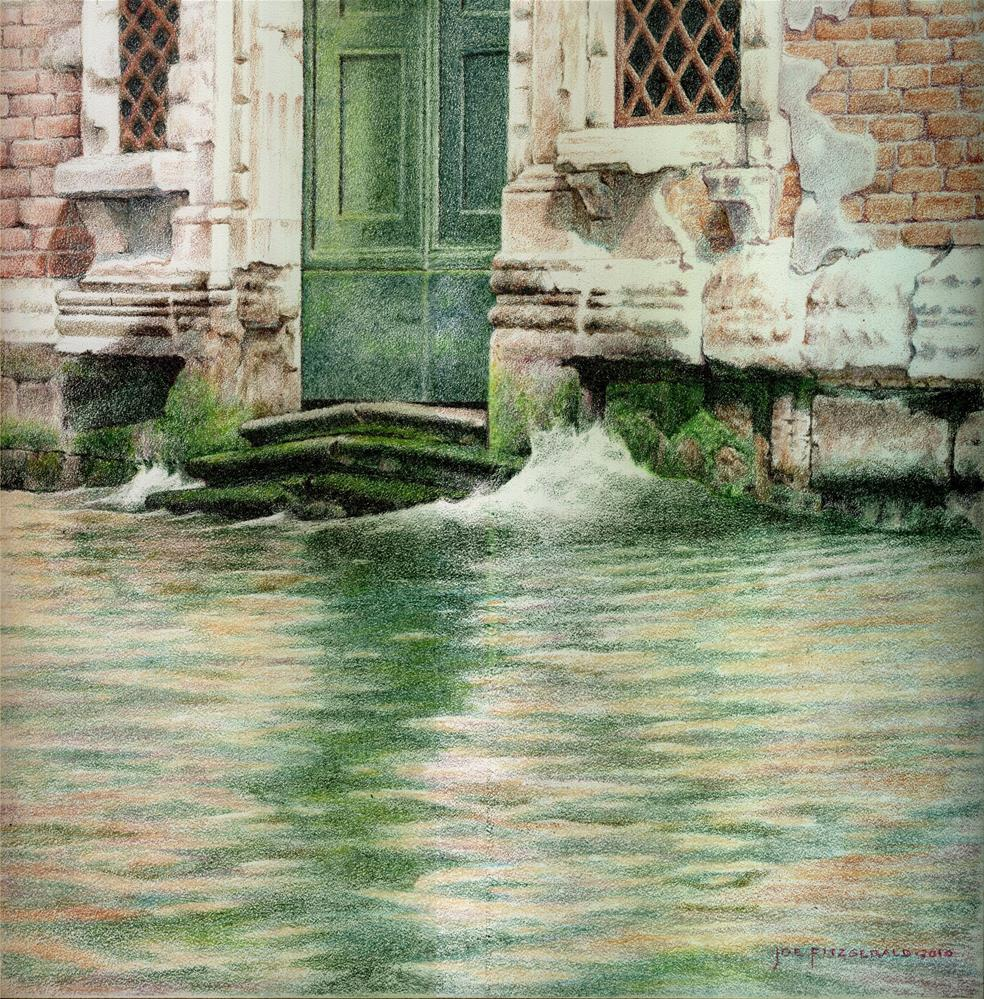"""Broken Steps - Venice"" original fine art by Joe Fitzgerald"