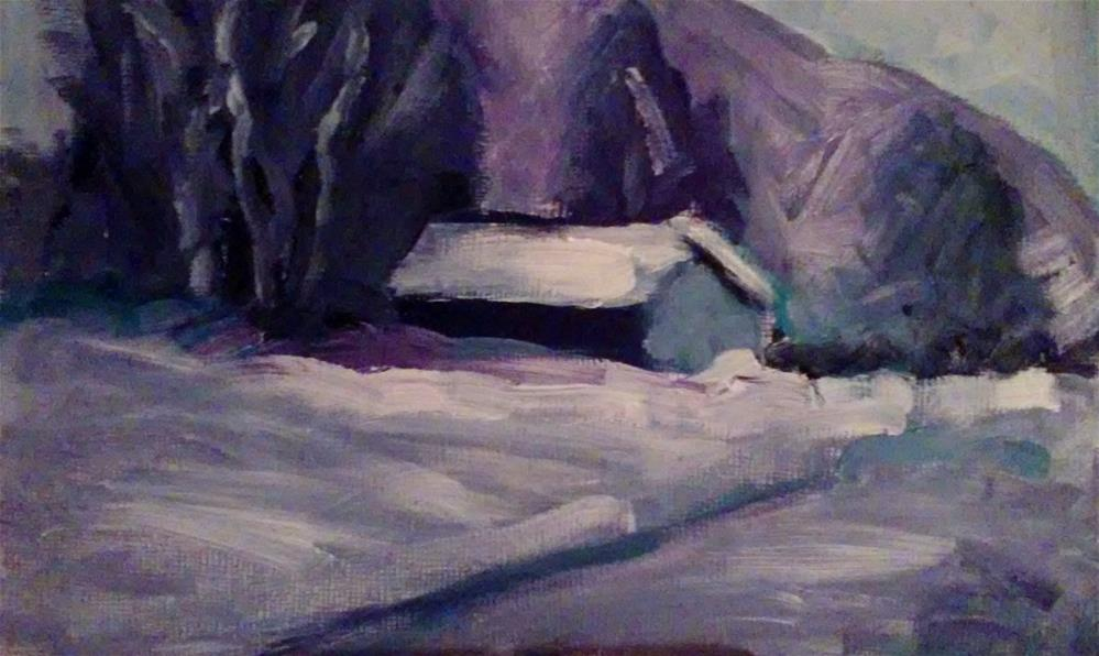 """Snowed In"" original fine art by Gerri Obrecht"