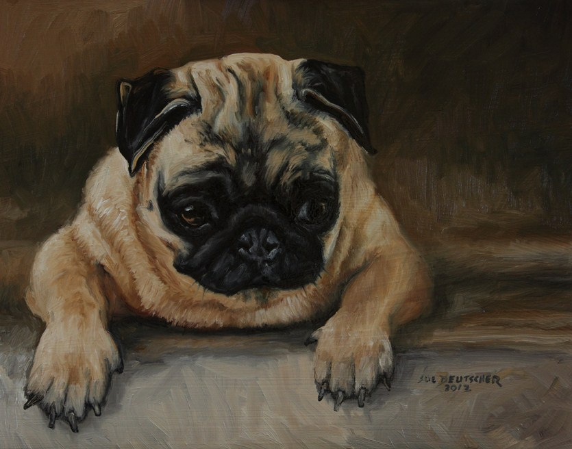 """Pug"" original fine art by Sue Deutscher"