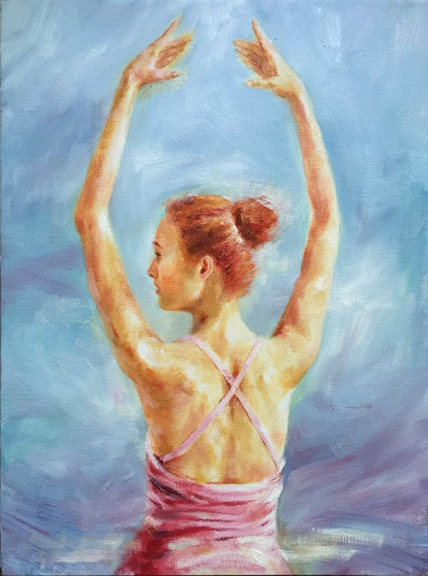 """ballerina"" original fine art by Joy Cai"