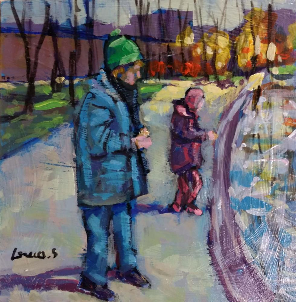 """playing outside"" original fine art by salvatore greco"