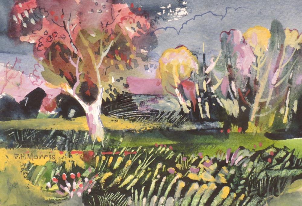 """""""Summer Night -- City Park"""" original fine art by Dann Morris"""