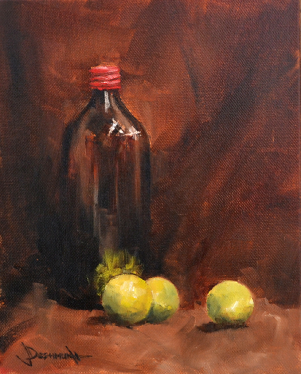 Still Life with Lemons original fine art by Vinayak Deshmukh