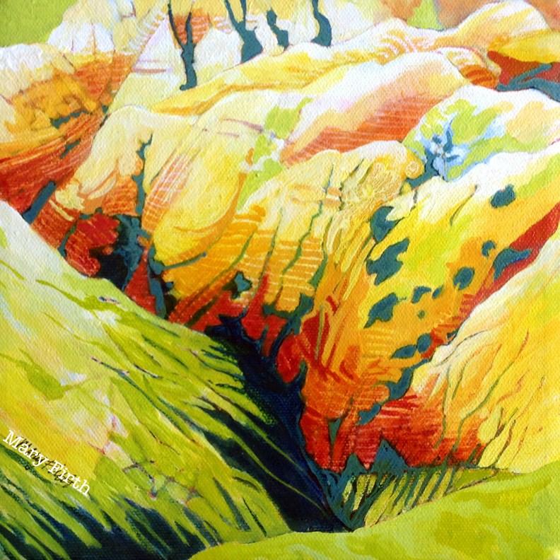 """badlands yellow"" original fine art by Mary Firth"