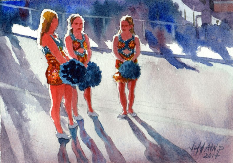 """Pom Squad"" original fine art by Jeff Atnip"