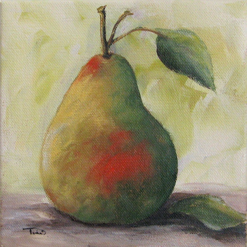 """A Simple Pear"" original fine art by Torrie Smiley"