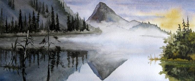 """Still Pond"" original fine art by Horst Berlow"