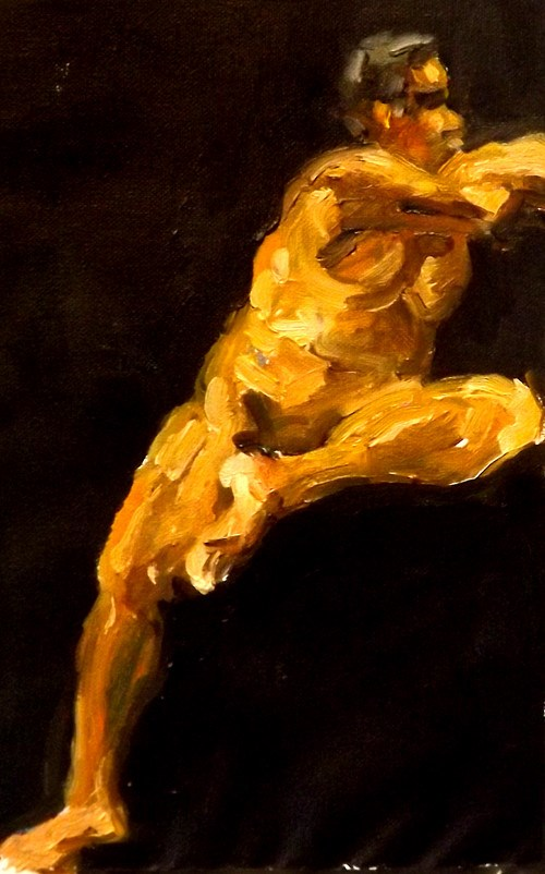 """Figurative012"" original fine art by Run-      Zhang Zane"