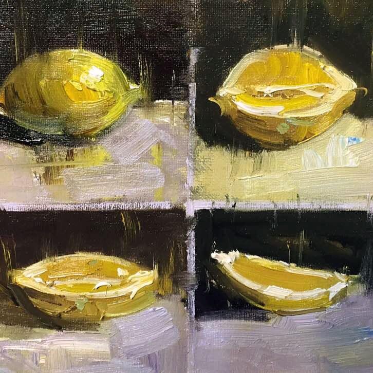 """Lemon study"" original fine art by Mostafa Keyhani"