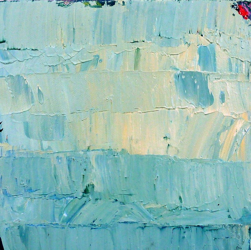 """Abstrakt in Blau / abstract in blue"" original fine art by Mila Plaickner"
