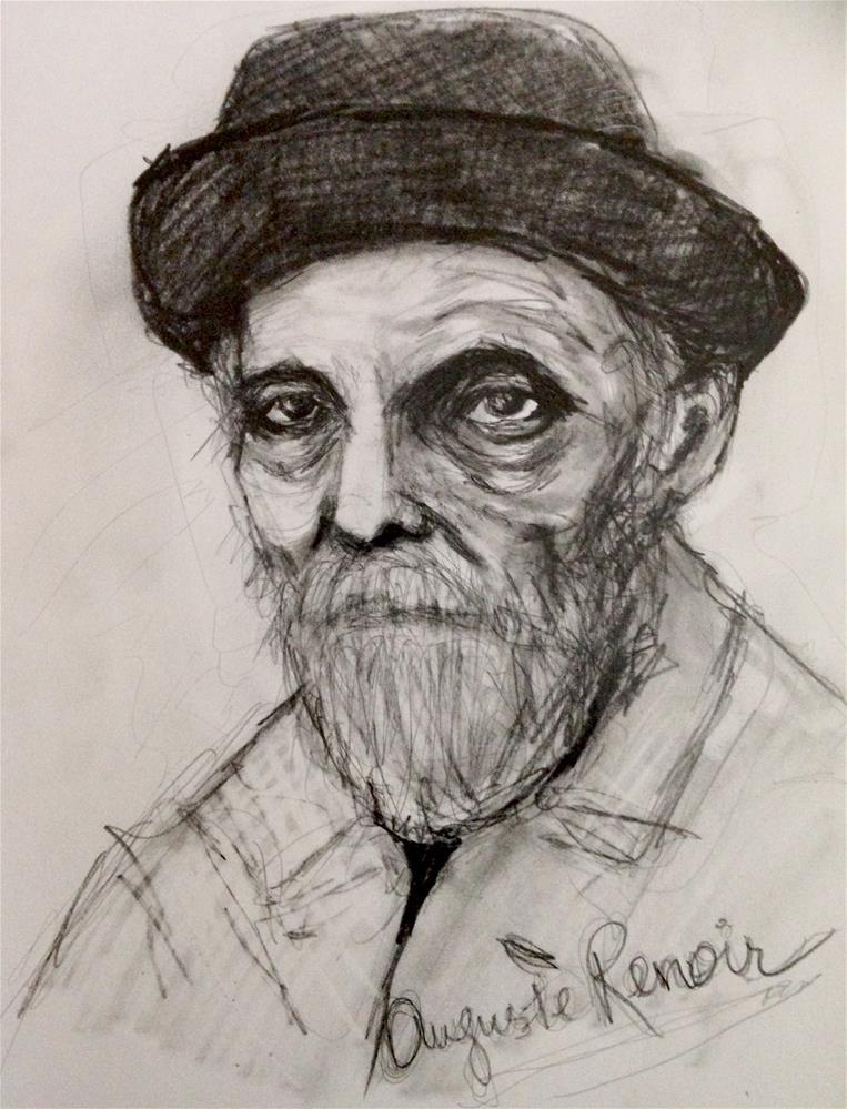 """""""Renoir"""" original fine art by Roberta Schmidt"""