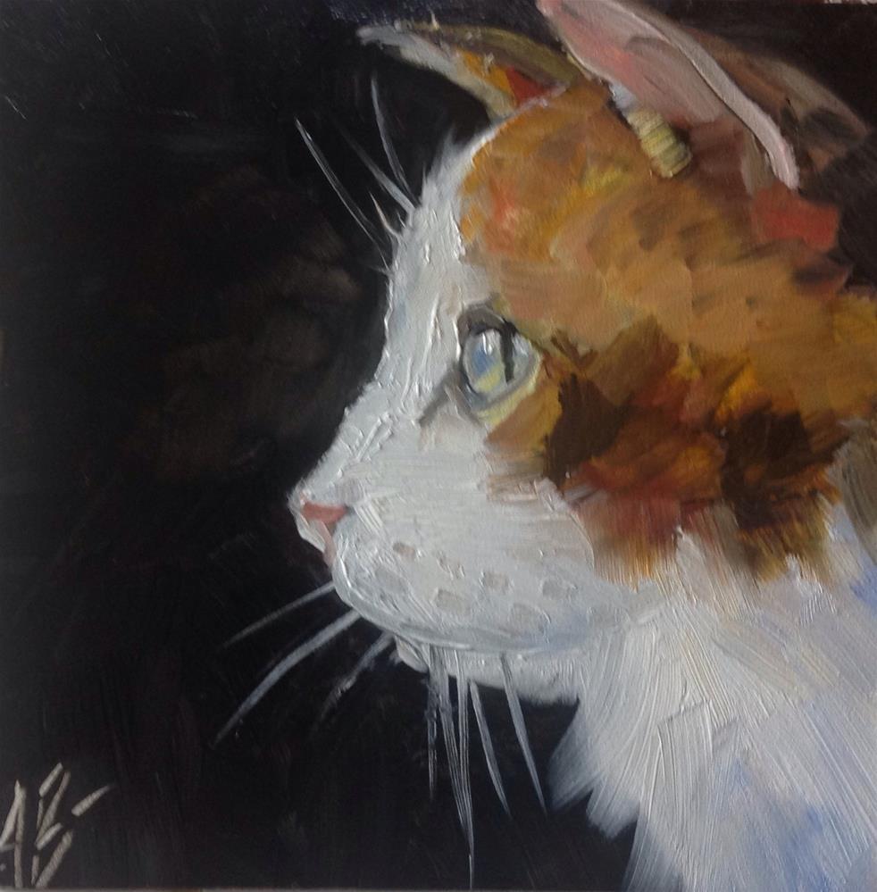 """""""Calico Cat"""" original fine art by Annette Balesteri"""