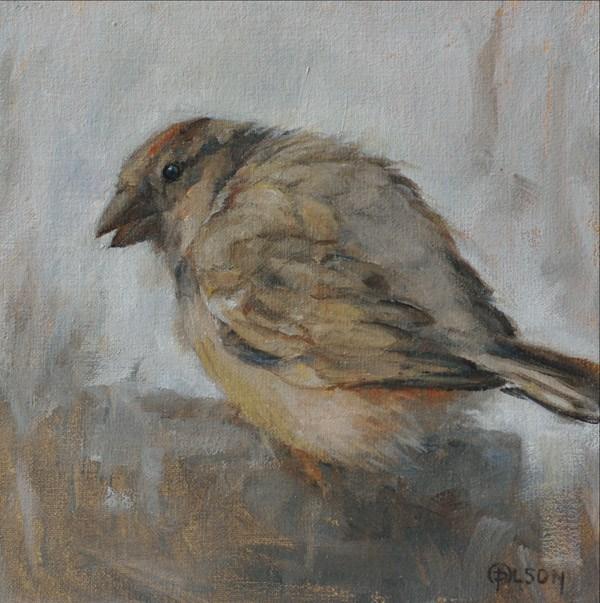 """""""Little Brown Thing-2"""" original fine art by Priscilla Olson"""