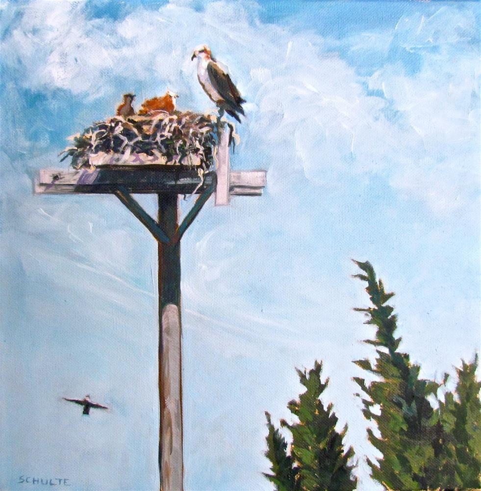 """Daddy's Home!"" original fine art by Lynne Schulte"