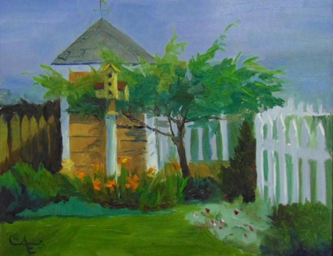 """""""Helen's Garden"""" original fine art by Catherine Kauffman"""