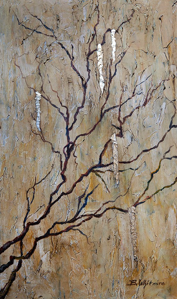 """Icy Branches"" original fine art by Barbara Whitmire"