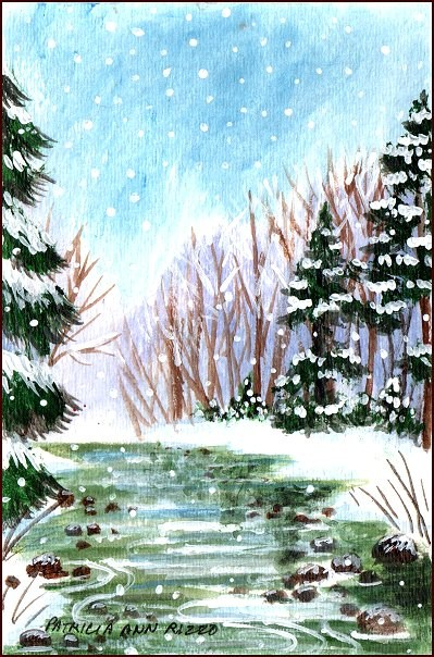 """Winter Wonderland 2"" original fine art by Patricia Ann Rizzo"