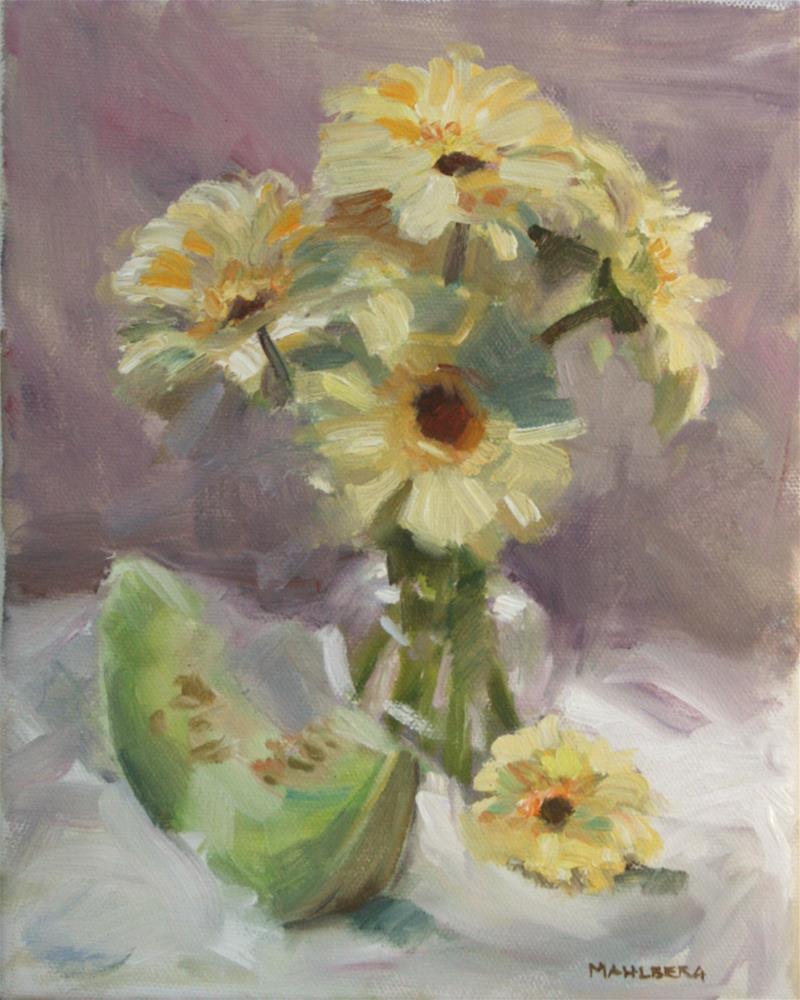 """White Gerber Daisies"" original fine art by Cynthia Mahlberg"