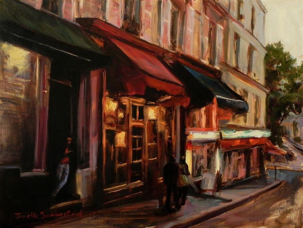 """""""Dusk in Montmartre II"""" original fine art by Jonelle Summerfield"""