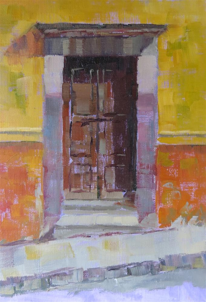 """Puerta Numero Uno"" original fine art by Pam Holnback"