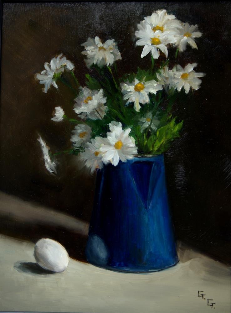 """Daisies"" original fine art by G. G. Slockett"