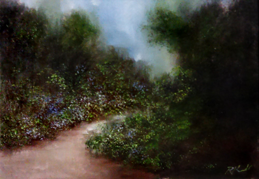 """A Garden Path"" original fine art by Bob Kimball"