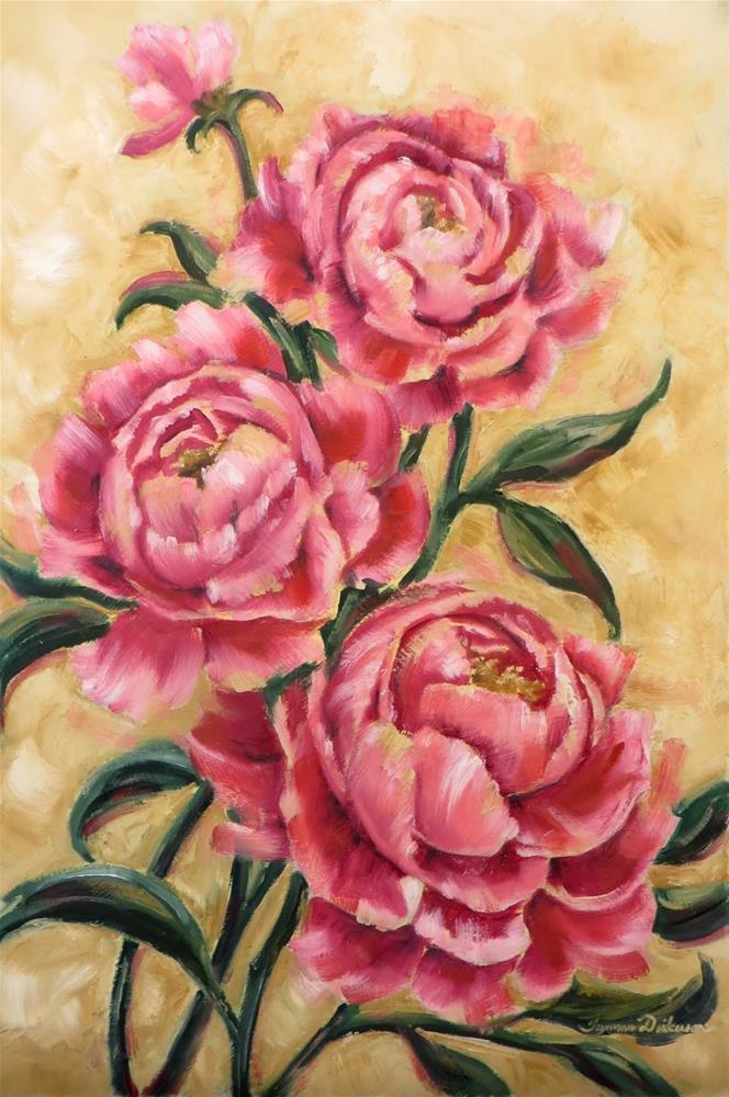 """""""Vintage Peonies"""" original fine art by Tammie Dickerson"""