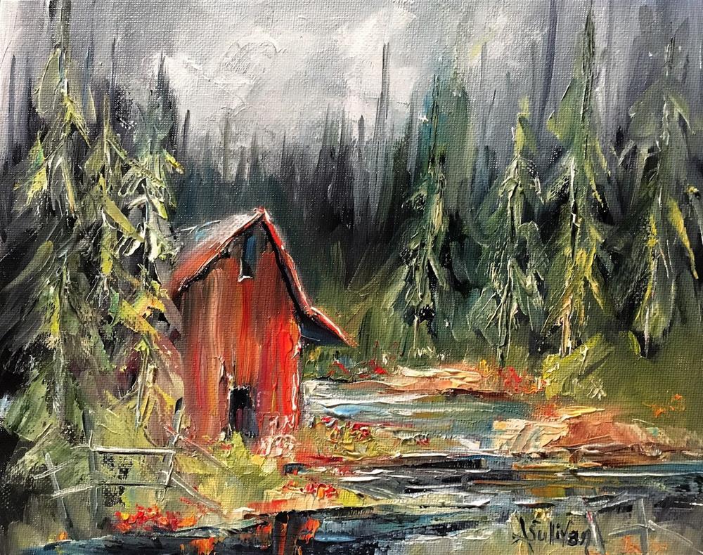 """Late Summer Blooms landscape painting by Alabama Artist Angela Sullivan"" original fine art by Angela Sullivan"