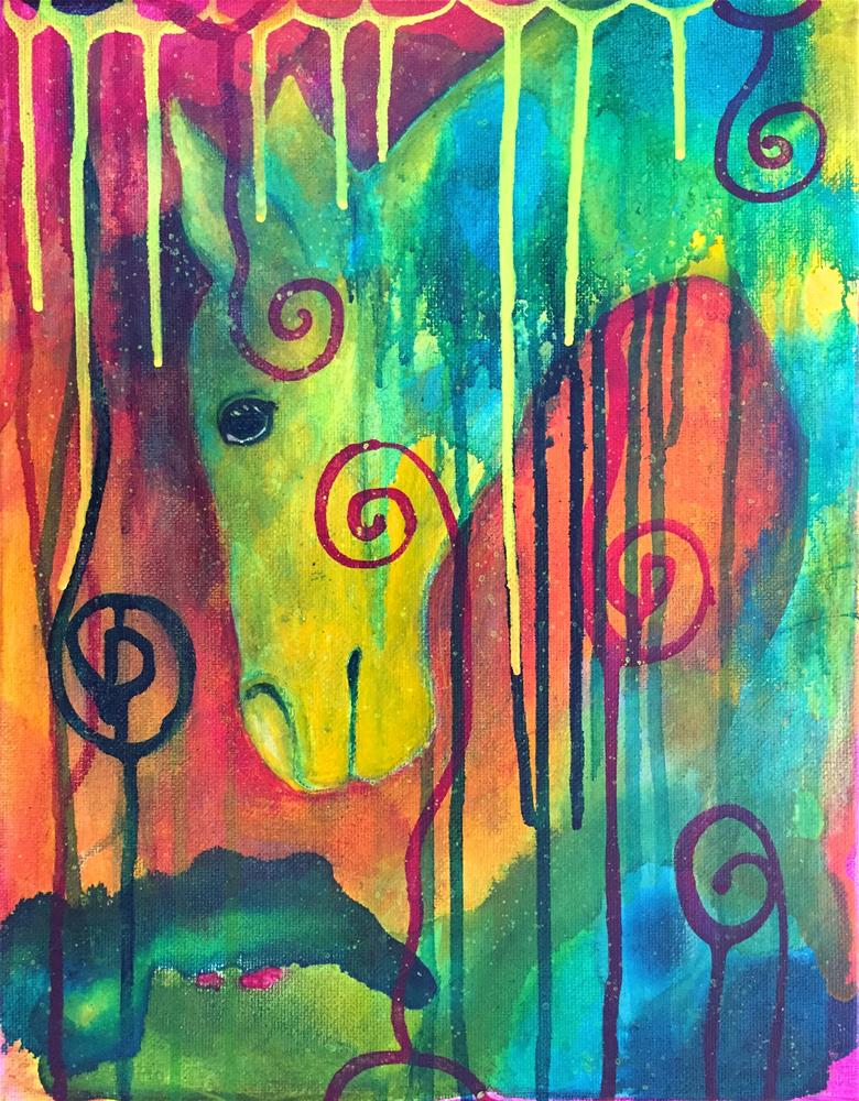 """All is Peace"" original fine art by Silke Powers"