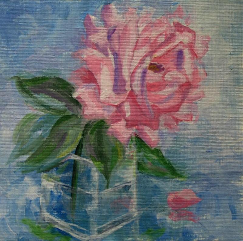 """Silver Lining Rose"" original fine art by Jean Nelson"