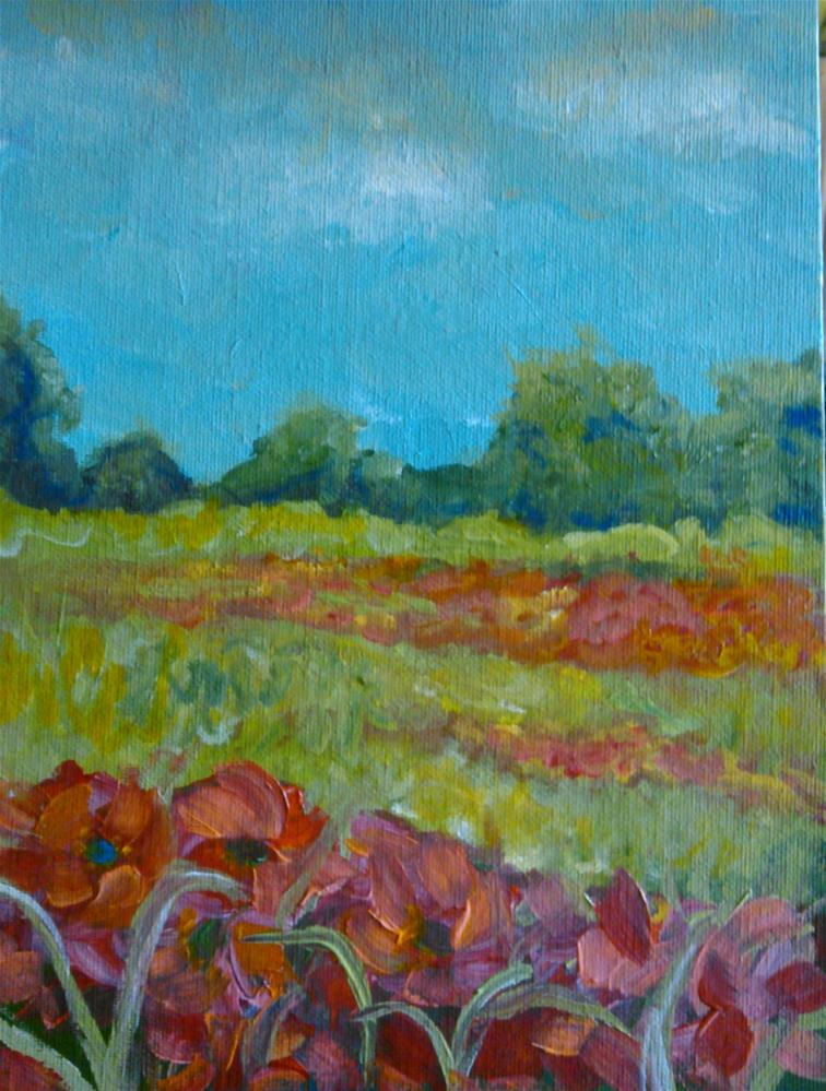 """Field of Poppies"" original fine art by Gerri Obrecht"
