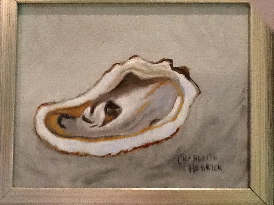 """APALACHICOLA OYSTER 2"" original fine art by Charlotte Bankhead Hedrick"