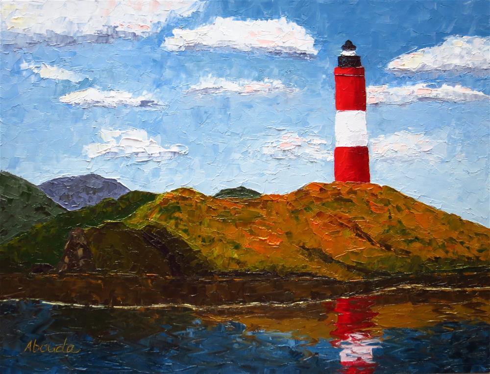 """Beagle Channel Lighthouse"" original fine art by Sandy Abouda"