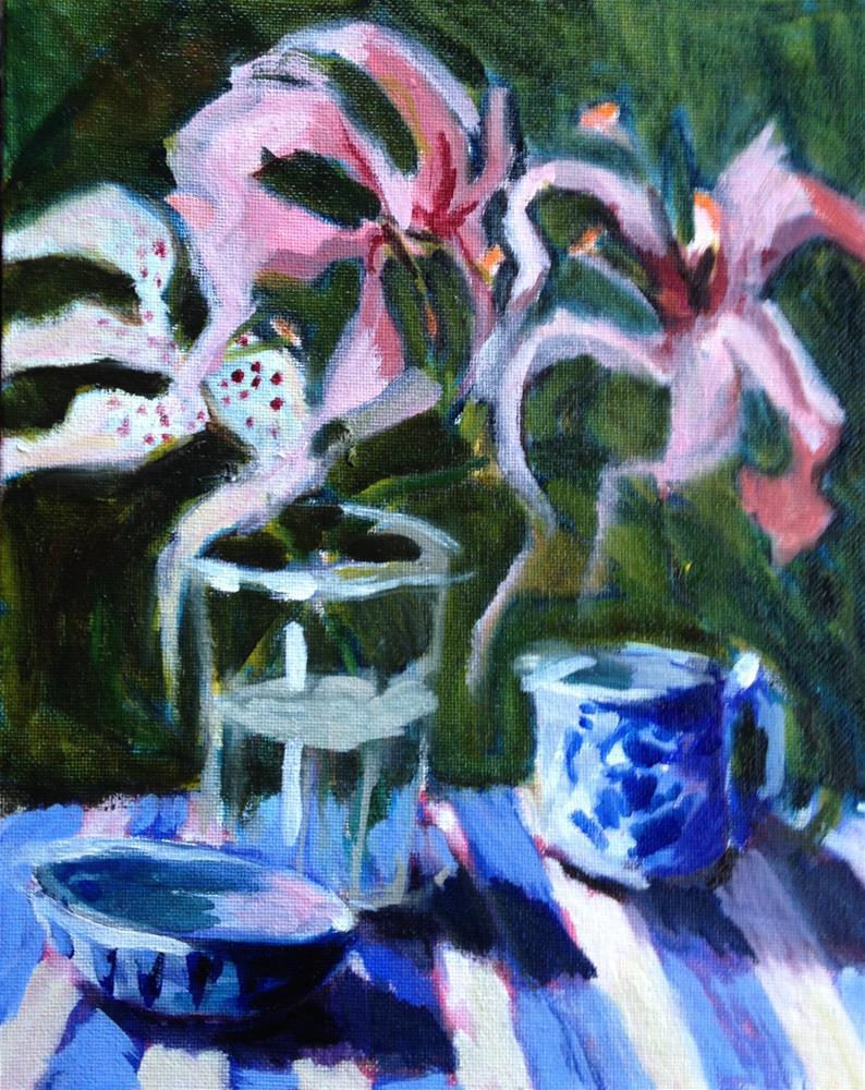 """Dancing Lilies"" original fine art by Pamela Hoffmeister"