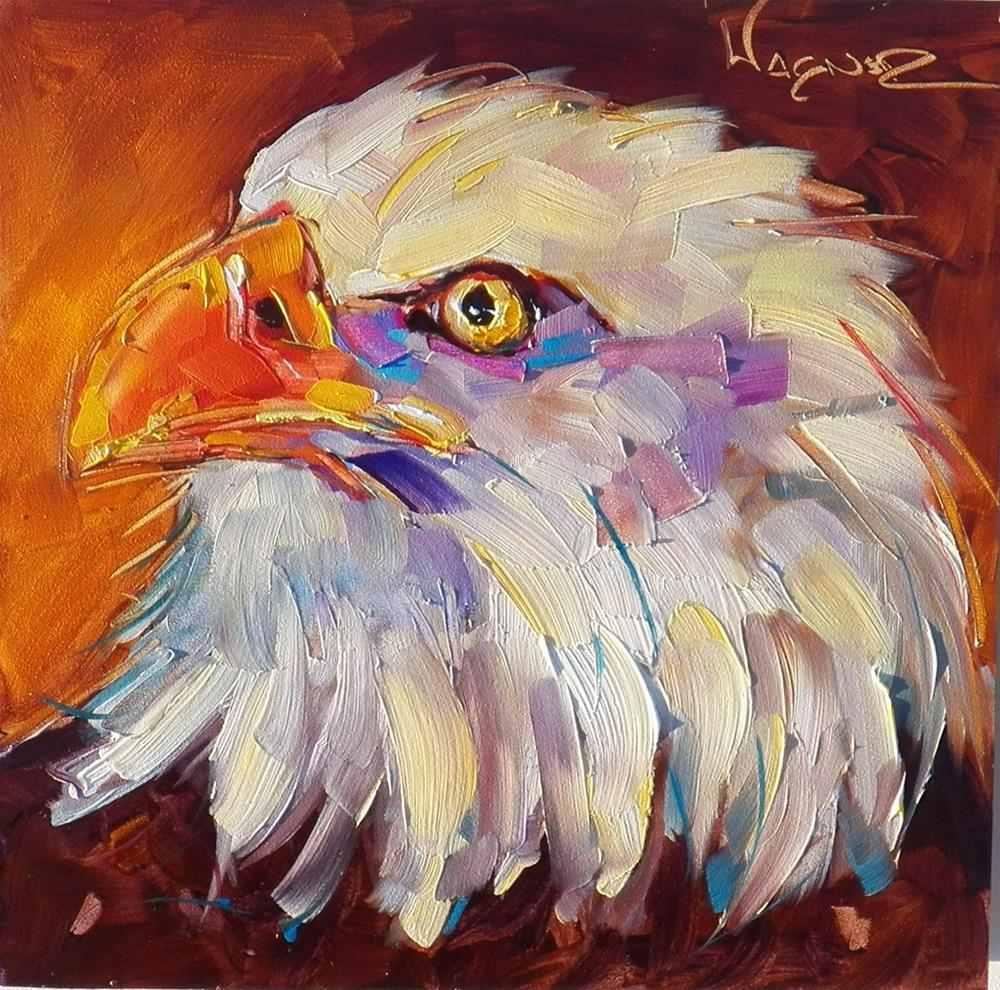 """CONTEMPORARY BALD EAGLE PAINTING by OLGA WAGNER"" original fine art by Olga Wagner"