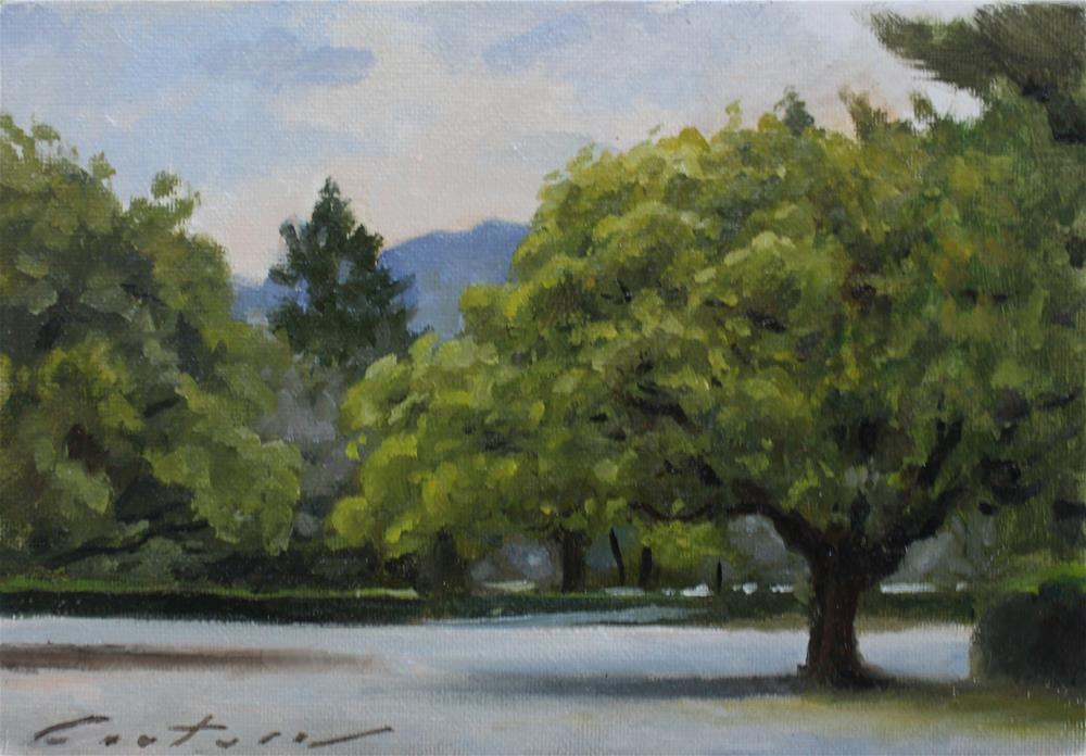 """Morning in the Park - Kyoto, Japan"" original fine art by Phil Couture"