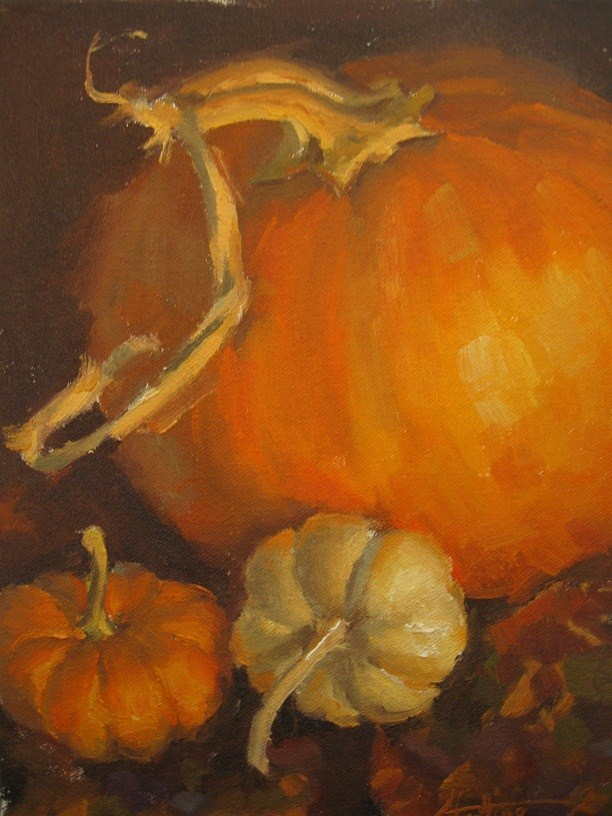 """A Little White Pumpkin"" original fine art by Abigail Gutting"