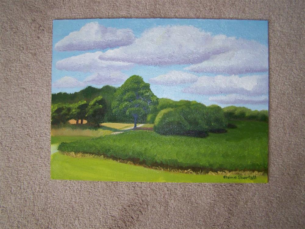 """Soy Beans along Octoberfarm Lane"" original fine art by Elaine Shortall"