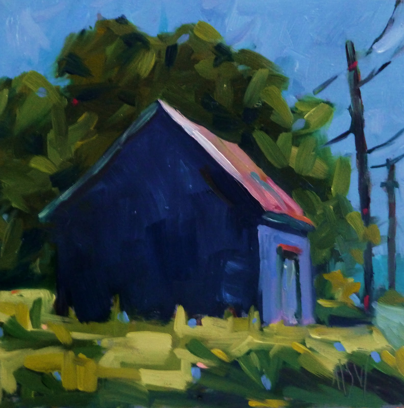 """Five Islands Barn"" original fine art by Mary Sheehan Winn"