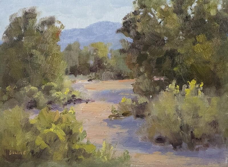 """The Path Thru the Arroyo"" original fine art by Bonnie Bowne"