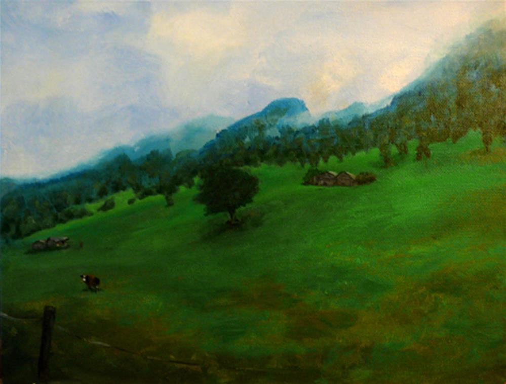 """""""Interlaken Hills"""" original fine art by Amanda Stacey"""