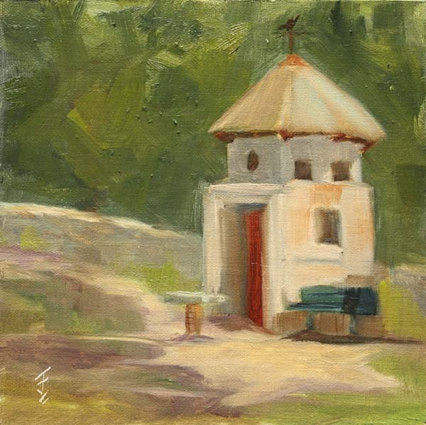 """Mayfield Dove Cote"" original fine art by Jane Frederick"