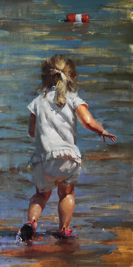 """Summer in Tahoe 2"" original fine art by Fongwei Liu"