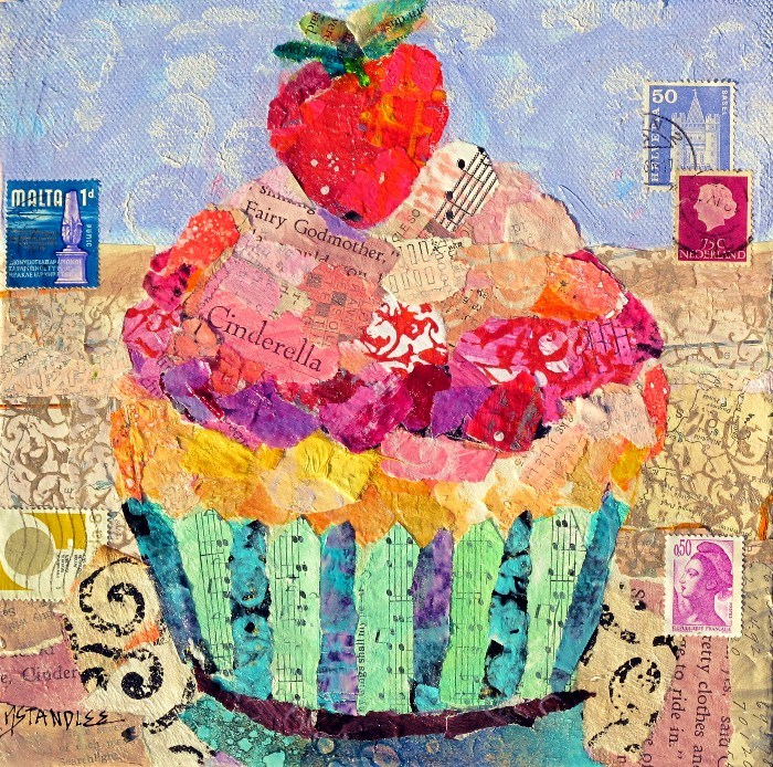 """Cinderella's Cupcake 12089 SOLD"" original fine art by Nancy Standlee"