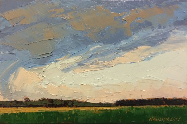 """Parting Clouds"" original fine art by Mary Gilkerson"
