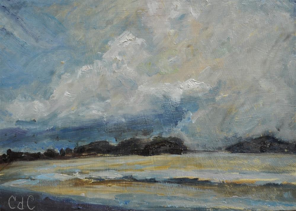 """The Stormy Weather Challenge"" original fine art by Catherine Crookston"