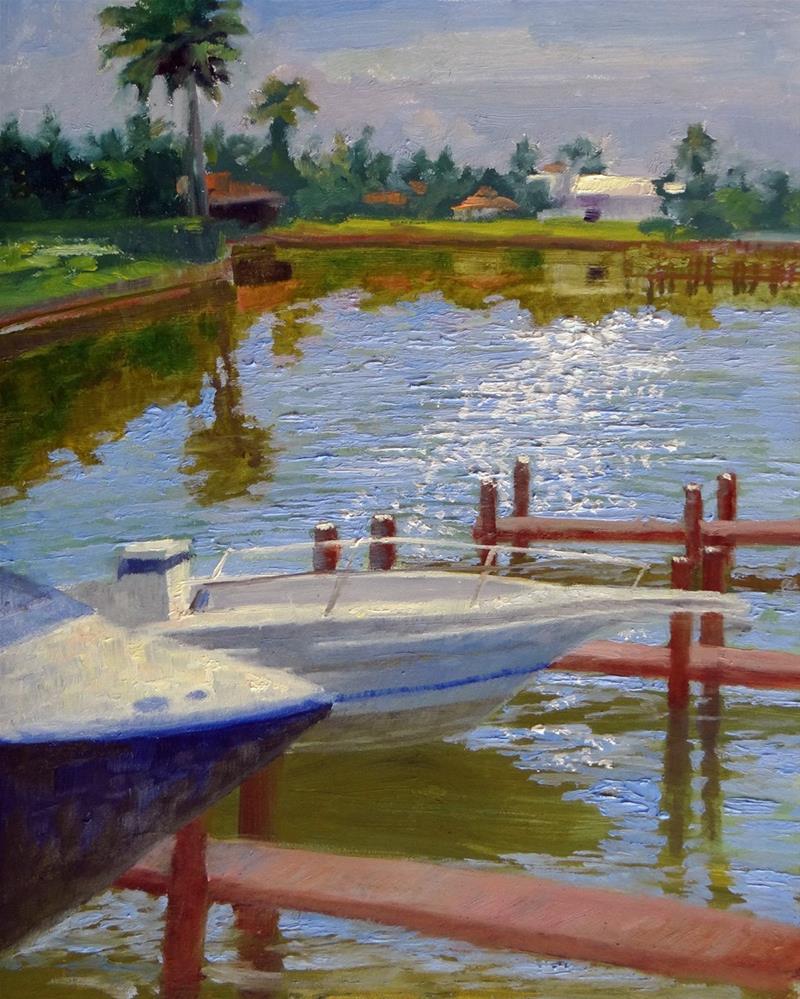 """The Sparkle on Water"" original fine art by Nancy Paris Pruden"