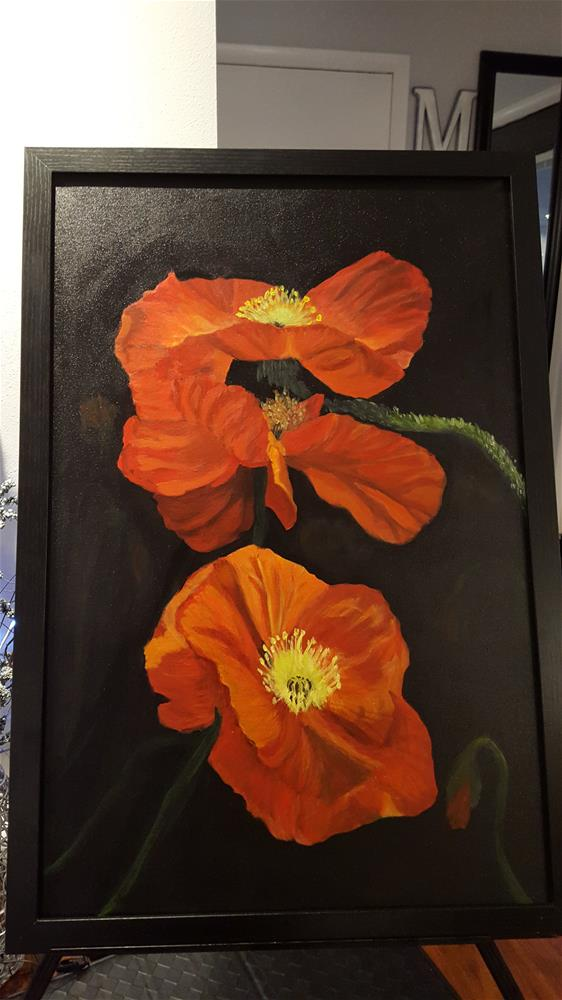 """Pretty Poppies"" original fine art by Joan Anderson"