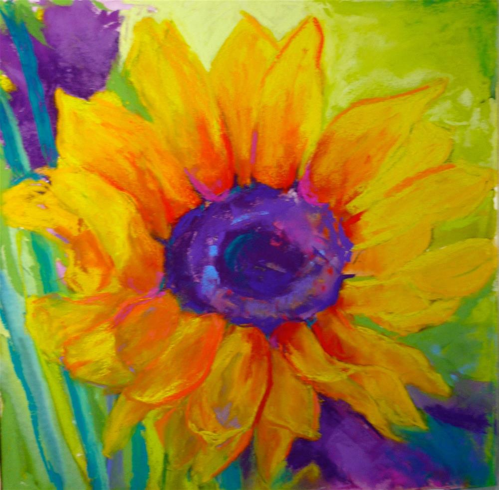 """Sunflower"" original fine art by Sandi Miller"