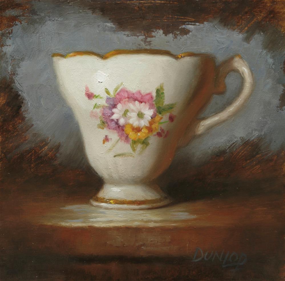 """Teacup #8"" original fine art by Bobbi Dunlop"
